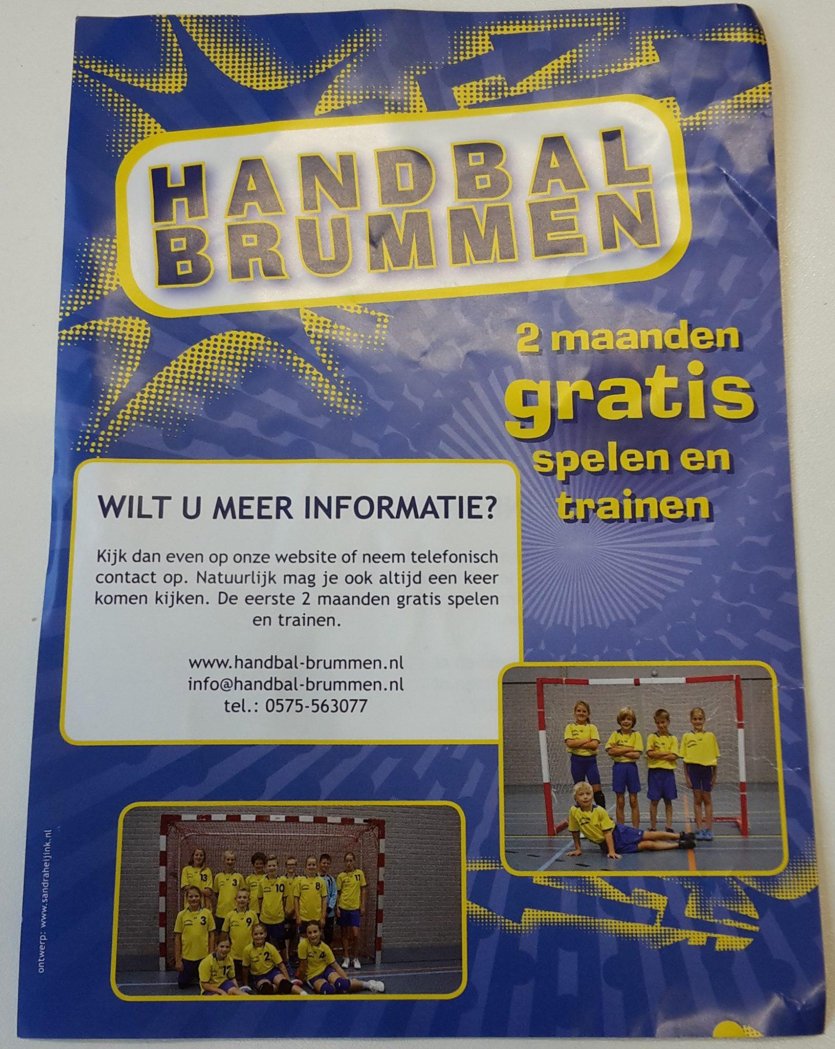 Handbal Brummen - 2 maanden gratis proeftrainen